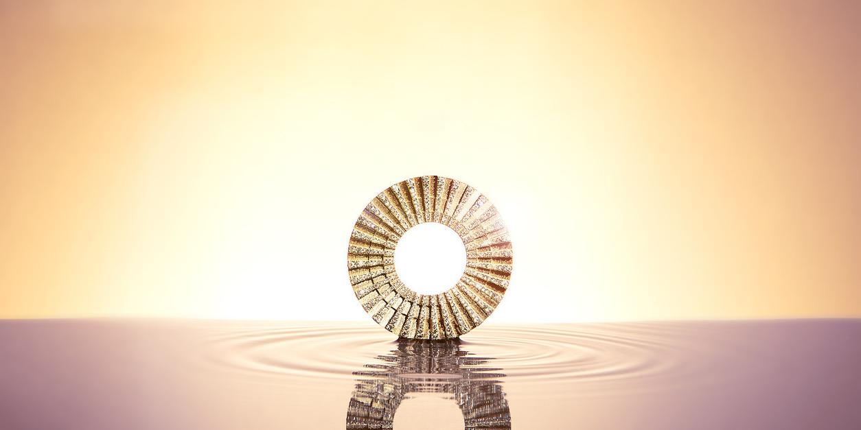 SI Simbolo Chain Pendant Gold Diamonds