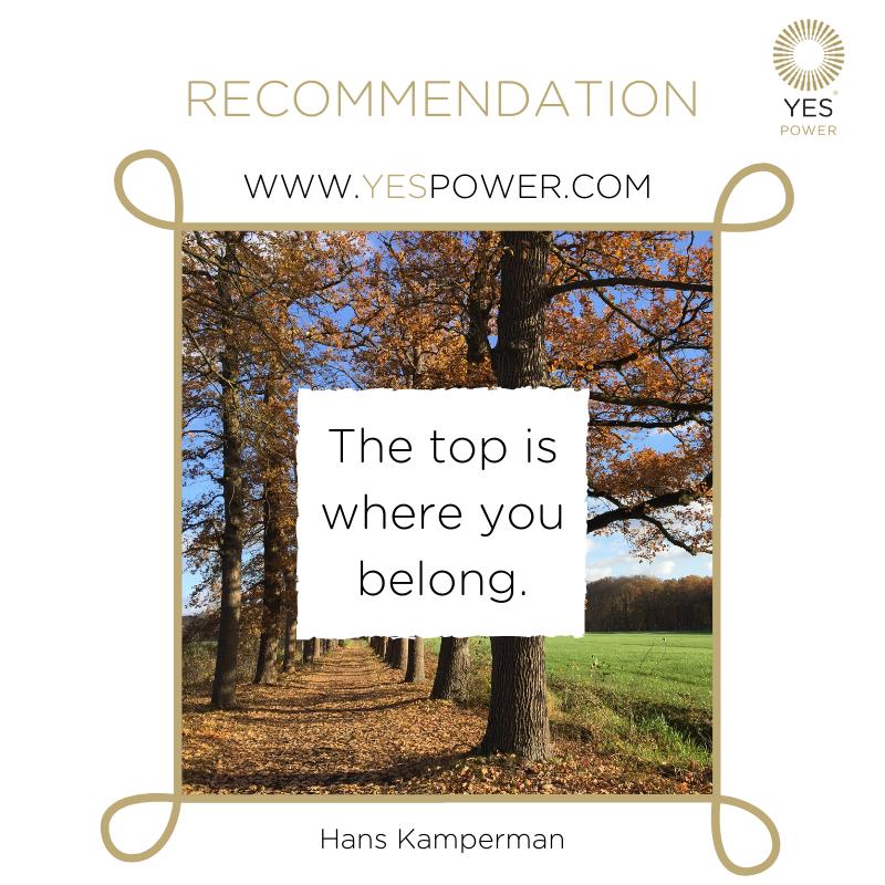 #Recommendation Hans Kamperman YesPower #businessmedium