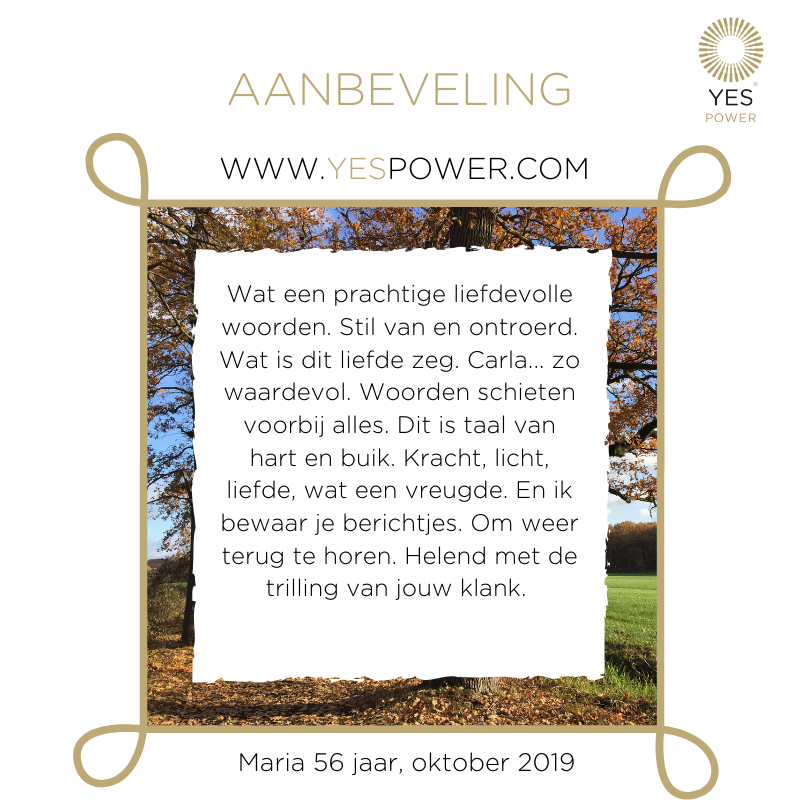 YesPower Businessmedium aanbeveling Maria