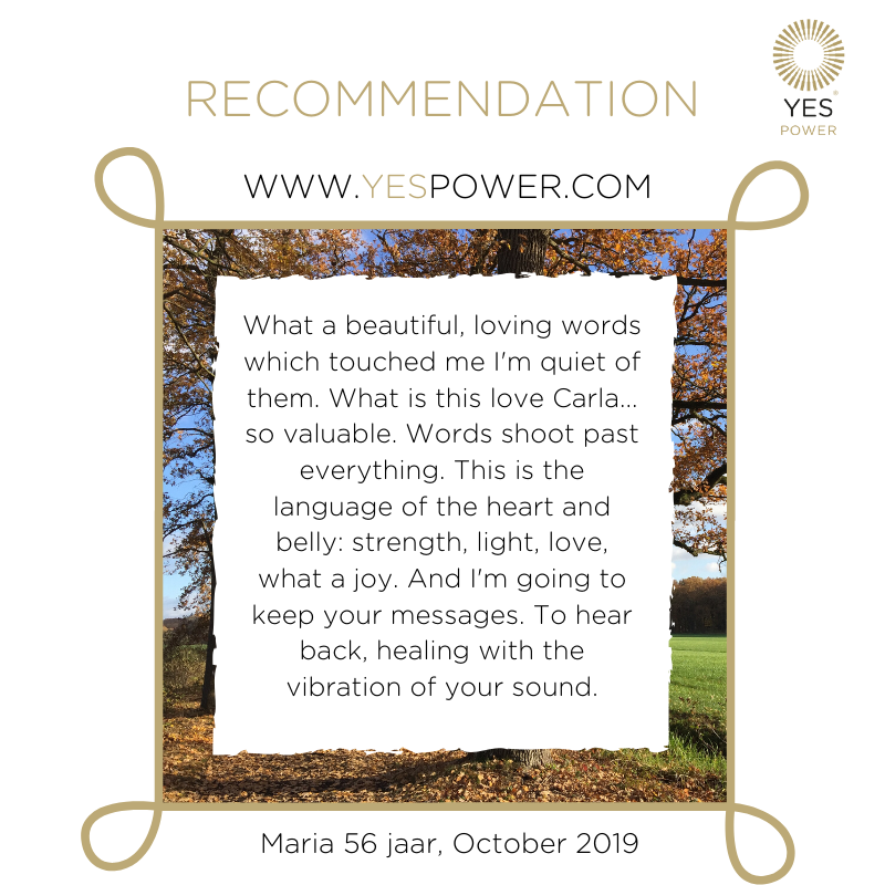 #recommendation YesPower #businessmedium Maria October 2019